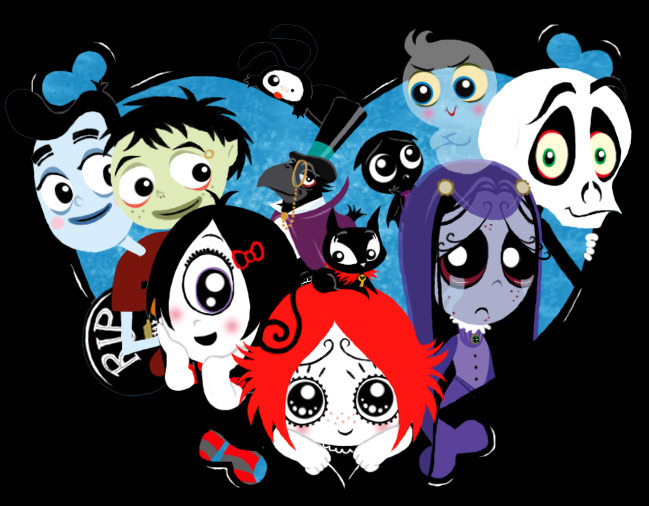 Ruby Gloom characters